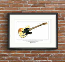 Jeff Beck's 1954 Fender Esquire Limited Edition Fine Art Print A3 size