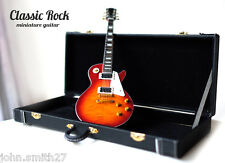 Miniature Guitar Jimmy Page Led Zeppelin Sunburst Classic Rock + Case
