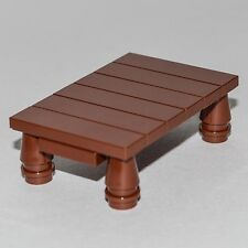 LEGO Furniture: Brown Table  -  Parts + Instructions   [minifigure,set,custom]