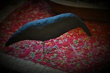 Primitive Folk Art  Paper Clay Crow All Handmade with Wire Legs and Feet