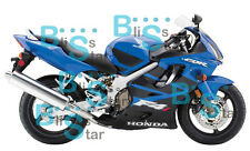 Blue INJECTION Fairing + Tank Cover Fit HONDA CBR600F4i 05 06 2004-2007 W1 B3