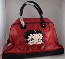 BETTY BOOP PURSE RED BLK LARGE  HANDBAG ORGANIZER DUFFLE SHOULDER TRAVEL NEW