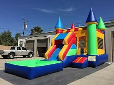 Waterslide Commercial  Inflatable Convertible Wet/Dry Bounce House USA