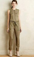 NEW Anthropologie Elevenses Sleeveless Utility Jumpsuit Size M Medium