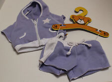 Build A Bear Purple & White SUPER STAR Short & Top Workout Outfit