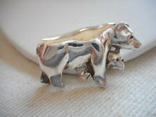 Vintage 925 Sterling Silver Mother Bear & Cub Brooch RE283