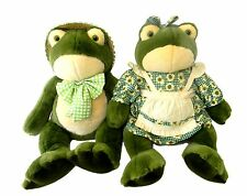 Golden Bear Co Country Boy and Girl Plush Frogs 2in T Stuffed