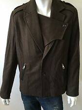 NWT Mens Joe's Jeans Commodore Wool Blend Coat Peacoat Jacket Olive Size Medium