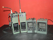 Large Vintage Military Walkie-Talkies with Charging Dock Stations