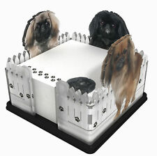 Pekingese Acrylic Note Holder Memo Note Pad Made in USA