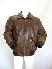 CHEVIREX PELLE LEATHER Cappotto Giubbino Giubbotto Jacket Coat Tg 52 Man Uomo G3