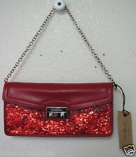 Cole Haan Minetta Party Bag Tango Red Sequins Clutch B41391 NWT