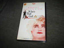 WHO'S THAT GIRL - MADONNA , GRIFFIN DUNNE ( VHS VIDEO ) MOVIE / FILM