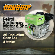 6.5HP NEW GENQUIP PETROL ENGINE with 2:1 REDUCTION BOX and 19mm SHAFT