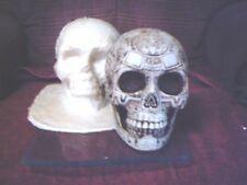 Aztec Skull Mold Latex/Rubber for Plaster/Concrete