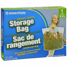 "1 ~ New BIG XXL LARGE Plastic STORAGE BAGS w Handle 24""x20"" Zip Loc Clothes BAG"
