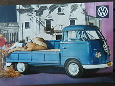No. 56 Volkswagen Pick Up c1961 Postcard Vintage Ad Gallery VW217pc *RARE MINT