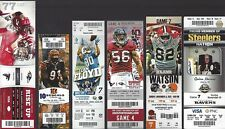 2012 NFL RAVENS UNUSED FOOTBALL TICKETS AWAY ALMOST COMPLETE SET 9/10