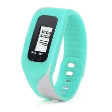 Digital LCD Pedometer Run Step Walking Distance Calorie Counter Bracelet Watch N