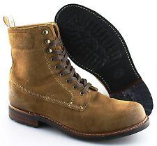 Men's RAG & BONE 'Officer' Brown Plain Toe Suede Boots Size US 8 - D