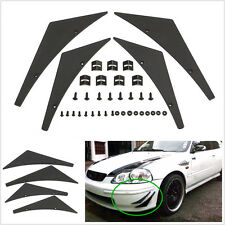 4 Pcs Car Off-Road Front Bumper Lip Splitter Fins Body Spoiler Canards Valence