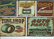 Vintage Retro Antique Style Metal Wall Plaque American Motor Car Garage Advert