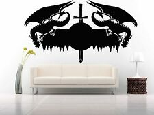 Wall Room Decor Art Vinyl Sticker Mural Decal Monster Dragon Sword Legend FI676