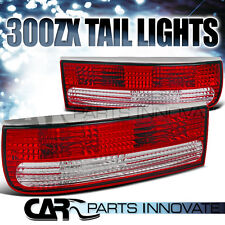 For 1990-1996 Nissan 300ZX Fairlady Z Z32 Red/Clear Tail Lights Brake Lamps