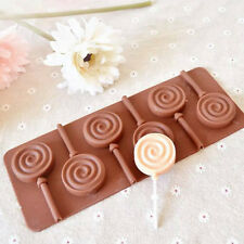 Lollipop Mould Flexible Silicone Mold Tray Cooking Baking Food Swirl Decoration