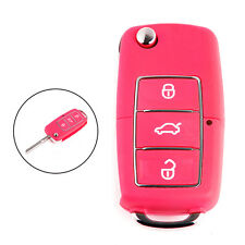 3Buttons Folding Car Remote Flip Key Shell Case for VW Golf Passat Polo Bora Red