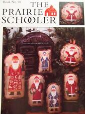 The Prairie Schooler OLD ST. NICK Cross Stitch Chart Book No. 58 HTF and EUC