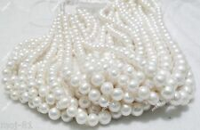 """6-12MM NATURAL WHITE FRESHWATER CULTURED PEARL ROUND LOOSE BEADS STRAND 15"""" AAA"""