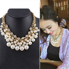Women New Faux Pearl Clavicle Chocker Jewelry Party Gift Necklace