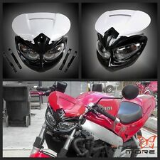 Universal White Supermoto Supercross Dirt Bike Headlight Fairing Kit For BMW KTM