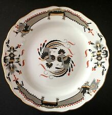 "MEISSEN German 10"" dinner plate BLACK DRAGON red dot accent crossed swords-MINT"