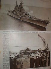 Photo article USA battleship USS Missouri visit to Portsmouth UK 1949