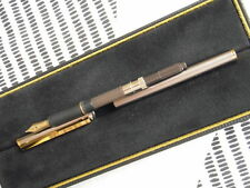 Dunhill Fountain Pen.Oringinal Gemline model, BRUSHED METAL. SALE PRICE