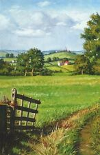 4x6 PRINT OF OIL PAINTING RYTA LANDSCAPE IMPRESSIONISM COUNTRY HOUSES FARM ART