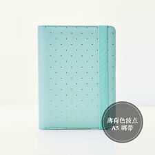 Dokibook A6 Personal Organizer Planner/ Diary Mint and Golden Dots