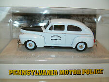 Pa State Police 1941 Ford Deluxe 5th Edition Patrol Car White and Black 1:43