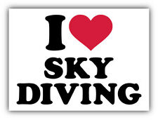 "I Love Sky Diving Car Bumper Sticker Decal 5"" x 4"""