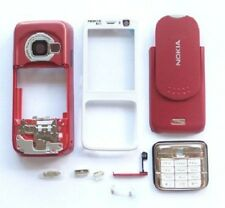 White-RED Cover Housing Case For Nokia N73+Keypad+T6