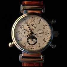 AUTOMATIC MENS VAAN KONRAD PROSIDION 20 JEWEL SUN/MOON DIAL WATCH WHITE FACE