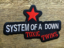 """""""NEW"""" SYSTEM OF A DOWN TOXIC TWINS RED STAR IRON ON PATCH"""