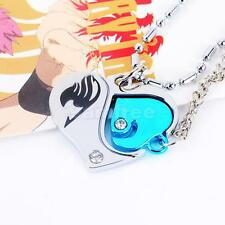 Cosplay Anime Fairytail Lover Heart Diamond Pendant Chain Necklace Jewelry