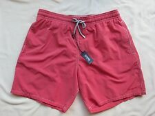 NWT VILEBREQUIN Mens Morio MOI4016H Red Stripe Swimming Trunks Sz M