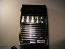 Vintage Parker Solid State Radio Electric Works with case