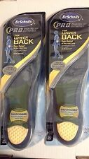 2 pks Dr. Scholl's BACK PAIN RELIEF ORTHOTIC SHOE INSOLES FOR MEN: SIZE (8-13)