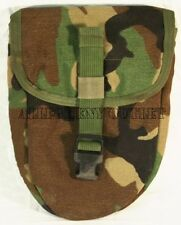 Military E-Tool Carrier ETool Cover Case Entrenching Tool Pouch Bag Woodland VGC