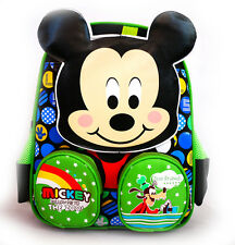 DISNEY MICKEY MOUSE PLUSH PRESCHOOL SCHOOL BACKPACK SHOULDER BOYS KIDS TOY BAG